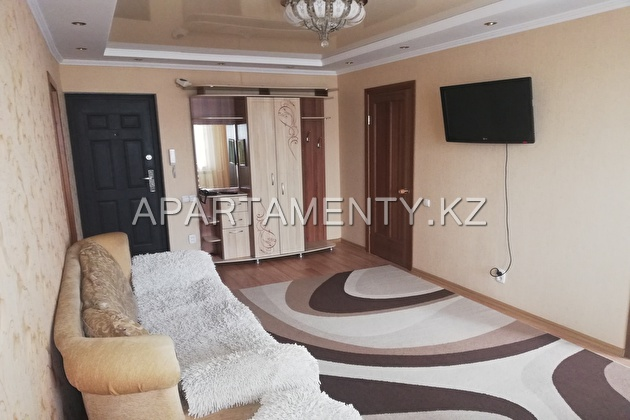 2-room apartment for daily rent in Kostanay