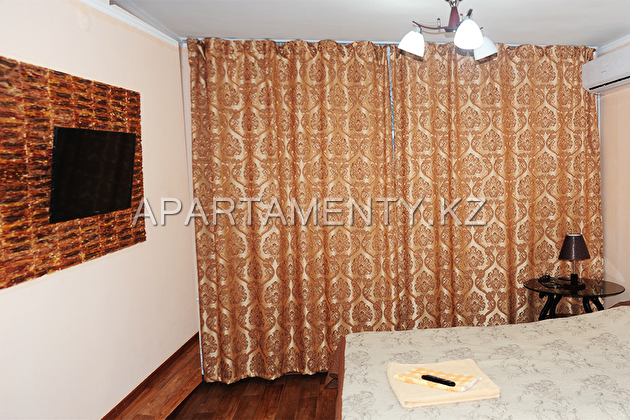 The apartment hotel plan by the day in Almaty