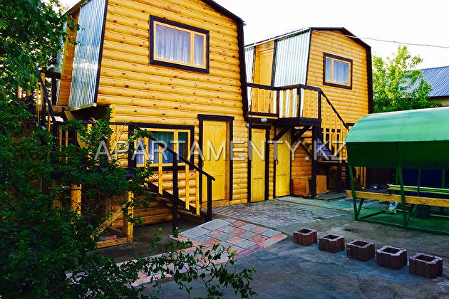 2 storey log cabin