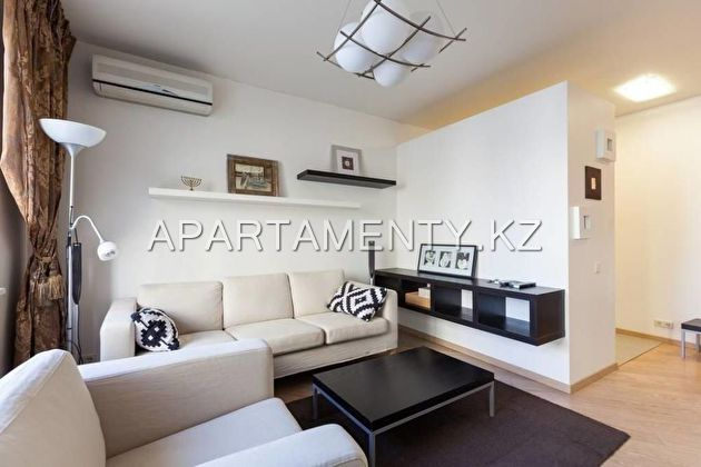 3-roomed apartment for daily rent in Almaty, Navoi