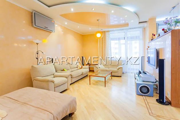 3-roomed apartment for day in Almaty