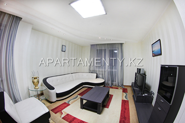 3-roomed apartment by the day in Almaty
