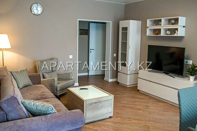 2-roomed apartment by the day in Almaty