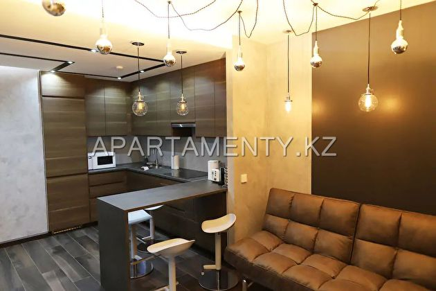 2-room apartment by the day,  Almaty