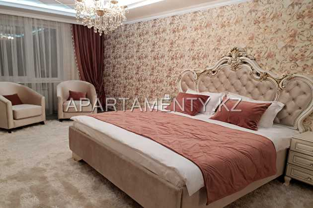 2-room apartment for daily rent in Shymkent