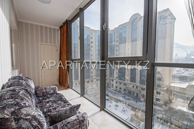2-room apartment for daily rent in Almaty