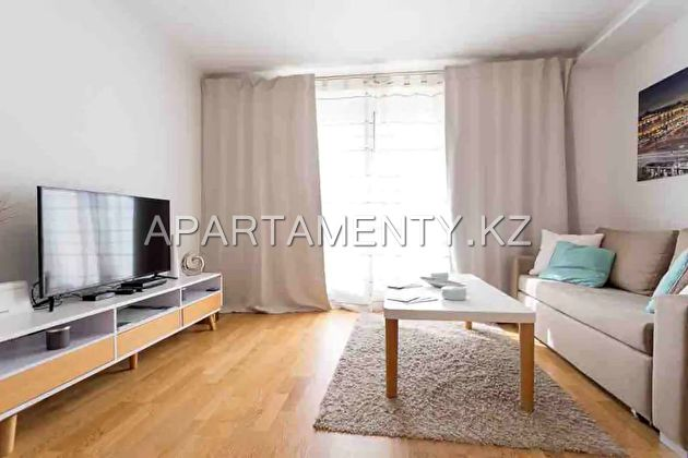 3-room apartment for daily rent in Almaty