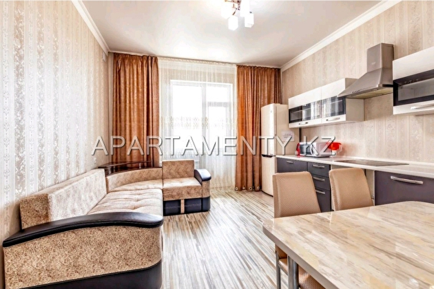 2-room apartment for a day in Aktobe