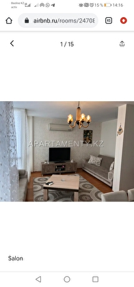 3-bedroom apartment in Aktobe, 12 microdistrict.