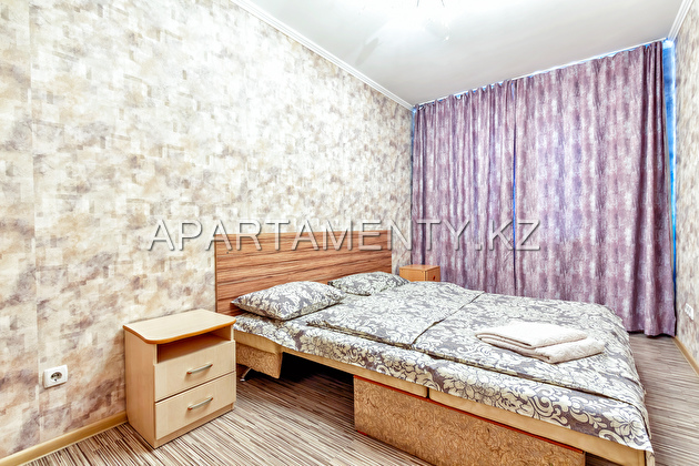 3-room apartment for daily rent, ul. Kazybek bi 49