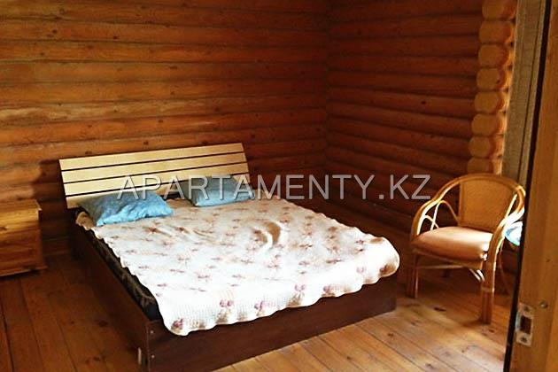 2-bed room in the wooden house