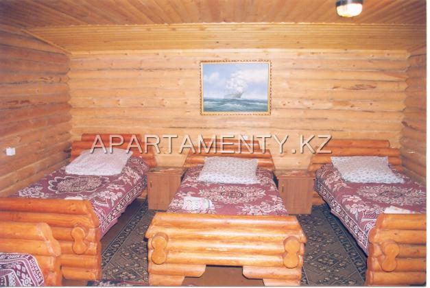 Room in wooden huts.