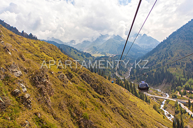 Funicular in Almaty, mountains
