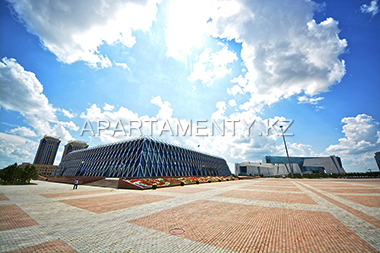 Independence square and National museum in Astana