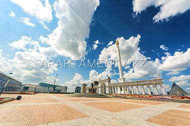 Independence Square, pyramid, National museum, Astana