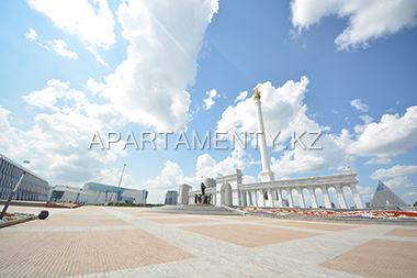 Independence square in Astana, monument