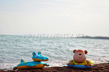 Beach on the lake Balkhash